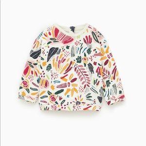 Zara floral print sweatshirt